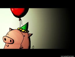 The Lone Pig. by CorruptedHamster