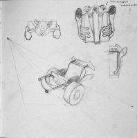 robo-chimera wheel-chair concept-sketches by meirha