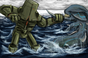 Pacific Rim: Cherno Alpha vs Scythejaw by Cynthetic-art