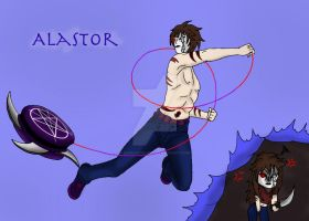 Creepypasta Gender-bended Nemesis: Alastor by darkangel6021