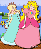 Peach and Rosalina by Babylara