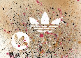 Adidas Logo Splash by Noem9