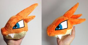Mega Charizard Y head comparison by Kitamon