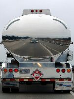 2006 Ford Mustang GT big rig tanker reflection by Partywave