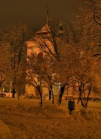 Park at Night2 by jeremi12