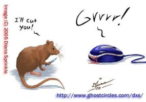 Mouse Attack by amegoddess