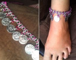 Chainmail Anklet by kungfubellydancer