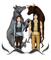 Arya and Gendry by CapricaPuddin