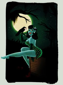 Zombabe Pinup by OhSadface