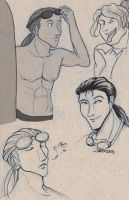 Unnamed Tan Surfer Sketches by Space-Jacket
