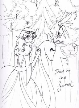 Deep in the forest by MissMelodyButterfly