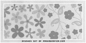 Hippy flowers - brush set by Magiagrafica