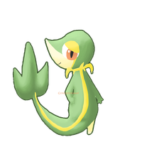 Snivy by Gingersnaap