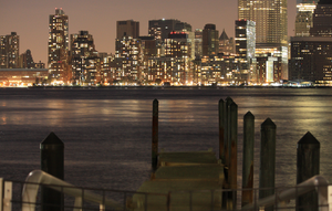 Dock with NYC City by duniyadnd