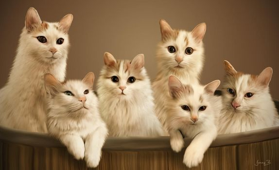 Turkish Van Cats by lenyca