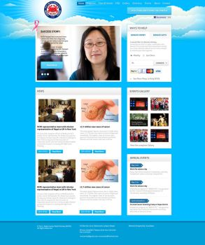 NGO website design by View9