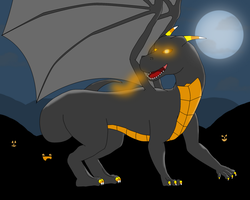 Brimstone the Halloween Dragon by narkro555