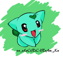 Chibi Bulbasaur by xXeLeCtRiC-dReAmXx