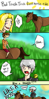 The Bad Touch Trio's First Horse Ride by ImMixyAndImBlue