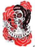 Day of the Dead girl Tshirt 3 by rawjawbone
