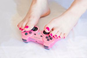 Gamer Toes (Pew! Pew!) by MyBarefootMuse
