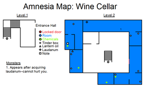 Amnesia Map: Wine Cellar by HideTheDecay