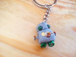 Cute Robot Keychain by SteamPixy