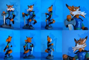 Commissioned Fox in Armor Figurine by spulunk