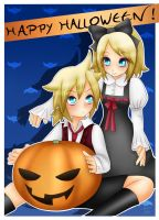 Rin and Len - Halloween Pumpkin by LadyGalatee