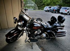 Harley Davidson FLHS stock 02 by pynipple