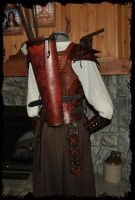 archer leather armor back by Lagueuse