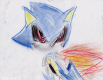 Metal Sonic of pastels by TheSwordLegion