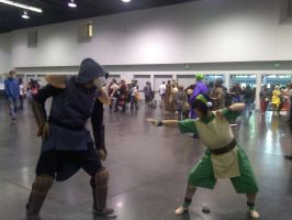 Toph and Amon cosplay by TheAwesomeNordics