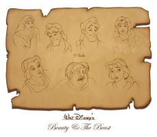 Beauty and The Beast sketches by Violla