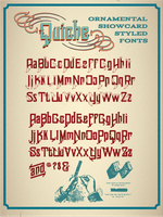 Quiche Ornamental Fonts by QuicheLoraine