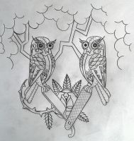owls by swetattoo