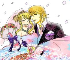 Link and Lucy: True Love Wedding by LinkHelios234