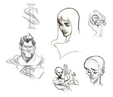 Superhero sketches by M-S-S