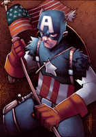 Captain America Digital Sketch Card by JeremyTreece