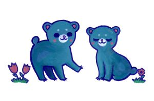 Blue Bears for Misha by nekofoot