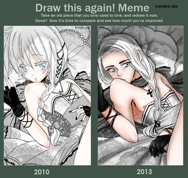draw this again: 2010 to 2013 by Oni-Moon