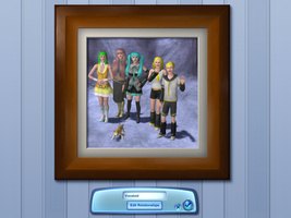 a sims vocaloid family by k-9girl