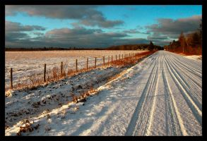 Fall Field and Snow BETTER by akuba