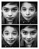 BW Portrait Series-The Twins by scaredylion