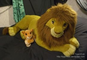 Douglas Cuddle Toy Simba and Mattel Kiara by TygonCub