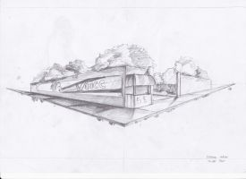 Art class: 2 point perspective of a park by duane11