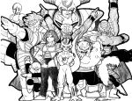 The Cast of Dragonball Z by XCBDH