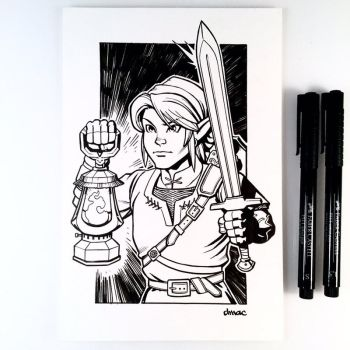 Inktober Day 27 - Link by D-MAC
