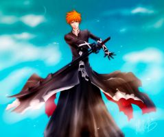 New Ichigo Bankai by HaloBlaBla