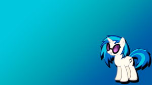 Simple wallpaper - Vinyl Scratch by FknSpitfire